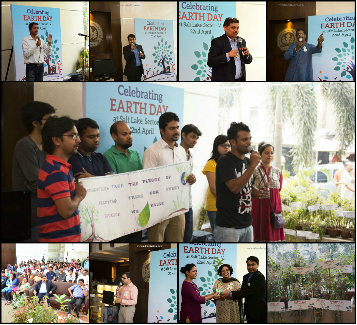 The Earth Day event at Salt Lake Sector V